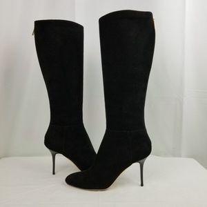 Jimmy Choo Suede Stiletto Heels Knee High Boots 37
